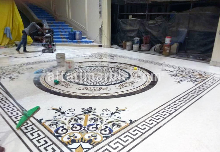 Marble Inlay Flooring Services in India at best price Marble Inlay Flooring, Marble Wall Inlay, Mosaic Work, Agate Stone, Table Top etc
